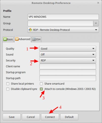 login vps windows dari linux mint setting vps windows advanced