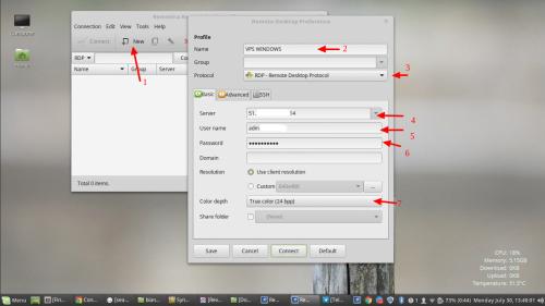 login vps windows dari linux mint setting vps windows basic