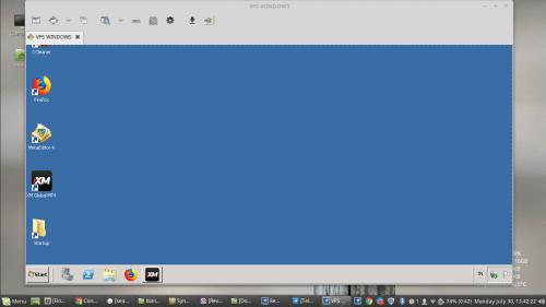 login vps windows dari linux mint vps windows sukses login