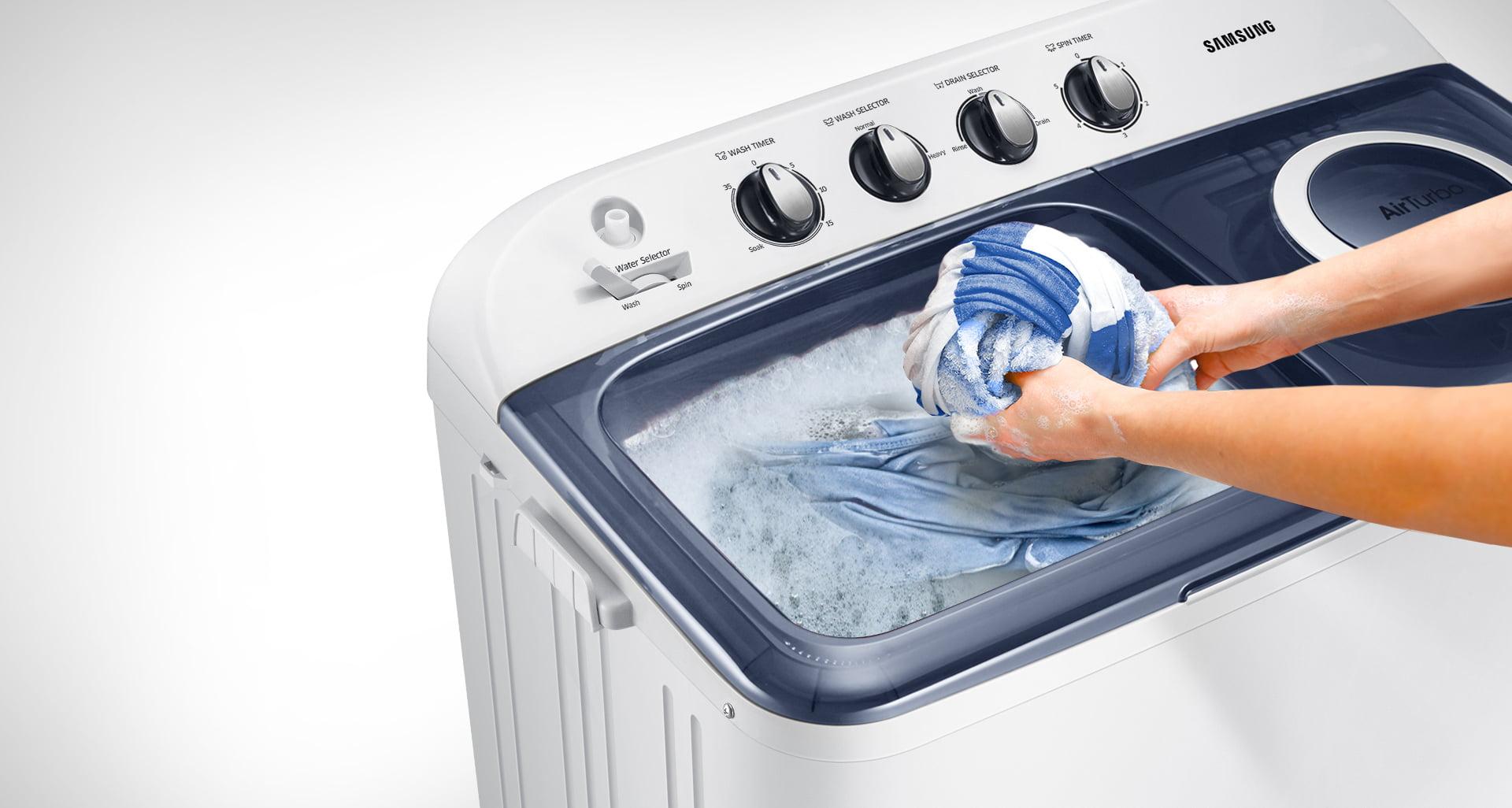 sederhana bersihkan mesin cuci setelah